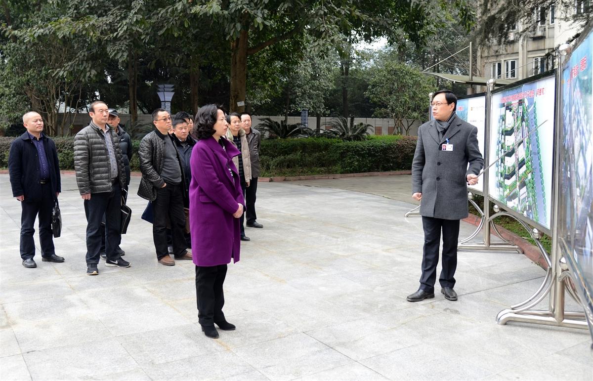 郭捷副市长率队调研乐山一中校园扩建工程