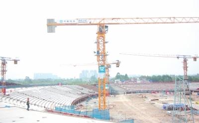 乐山奥林匹克中心加快建设 主体工程预计下月完成
