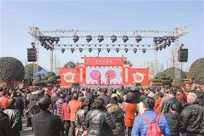 """""""年味""""在澳门线上娱乐场彩金 嘉州大庙会民俗闹新春"""